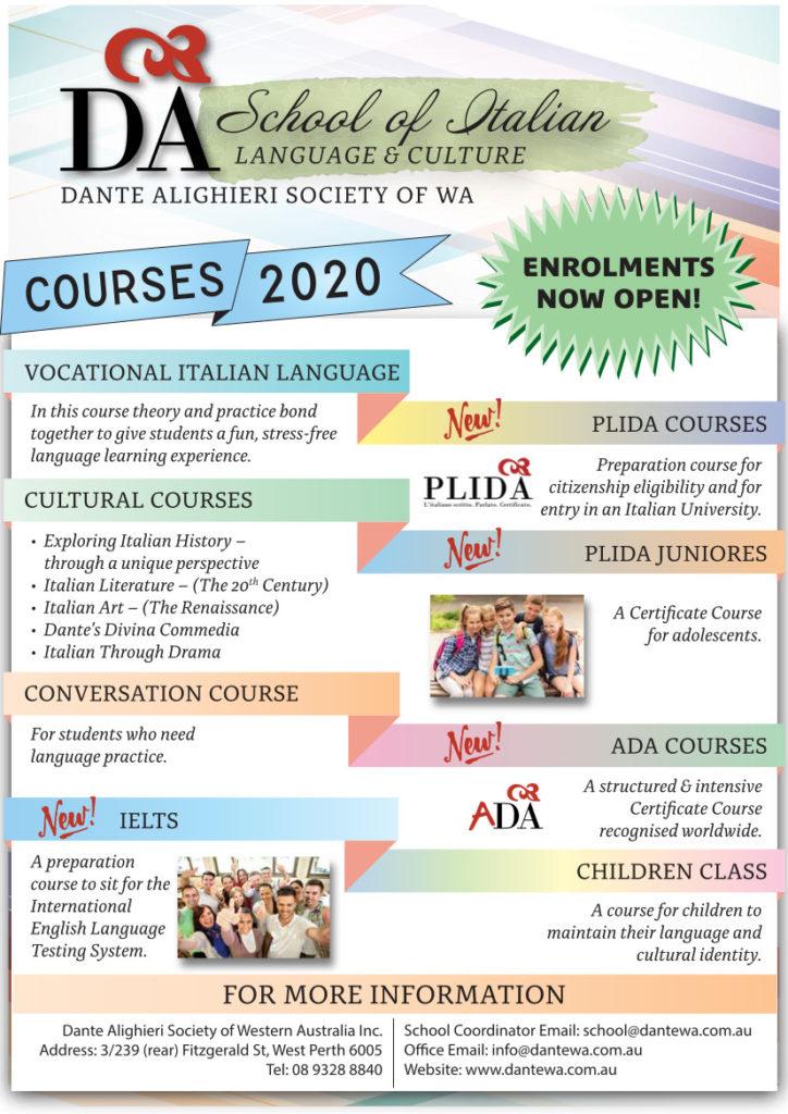 2020 Course presentation