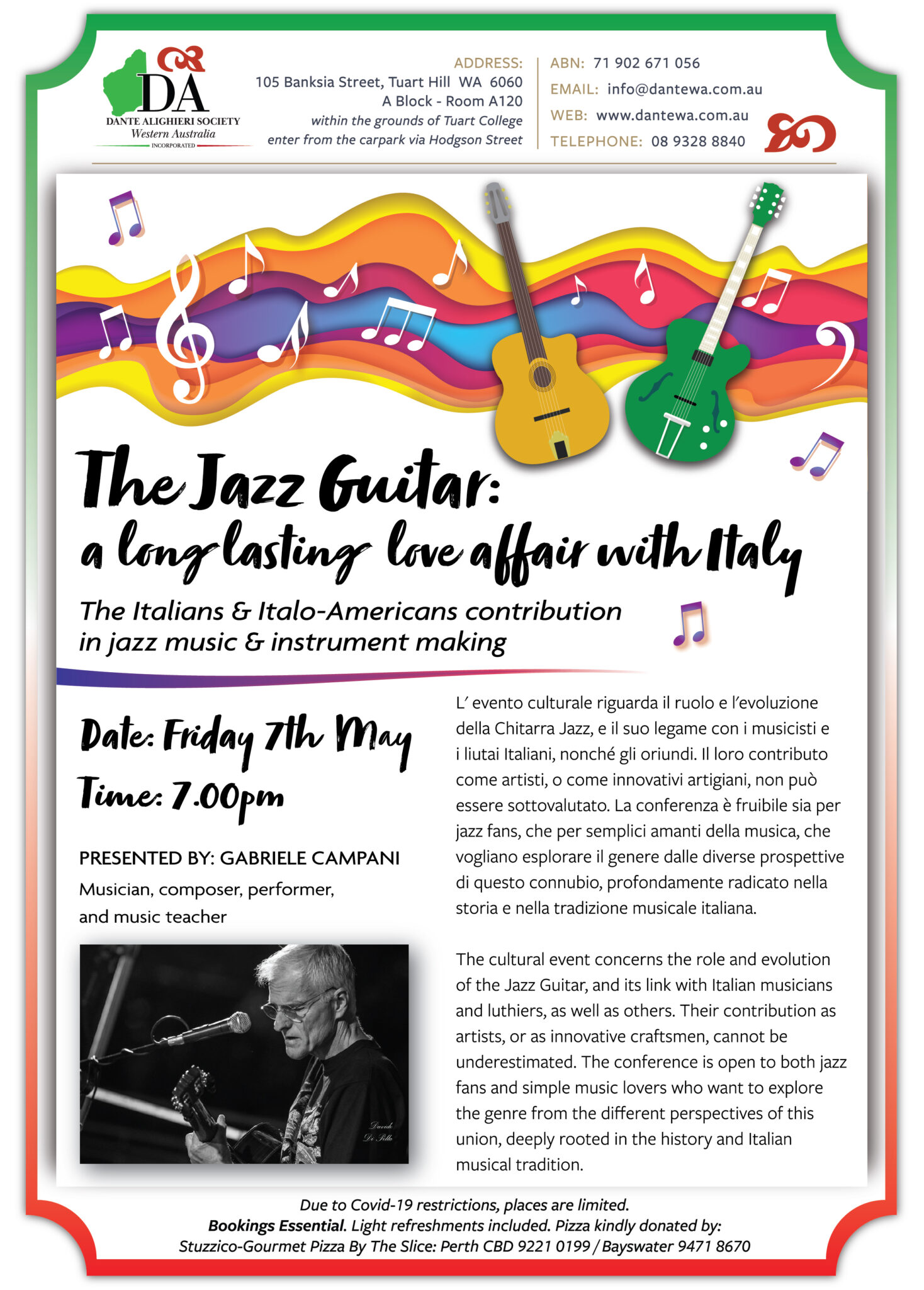 ATTENTION: April Cultural Night Rescheduled to Friday 7th May