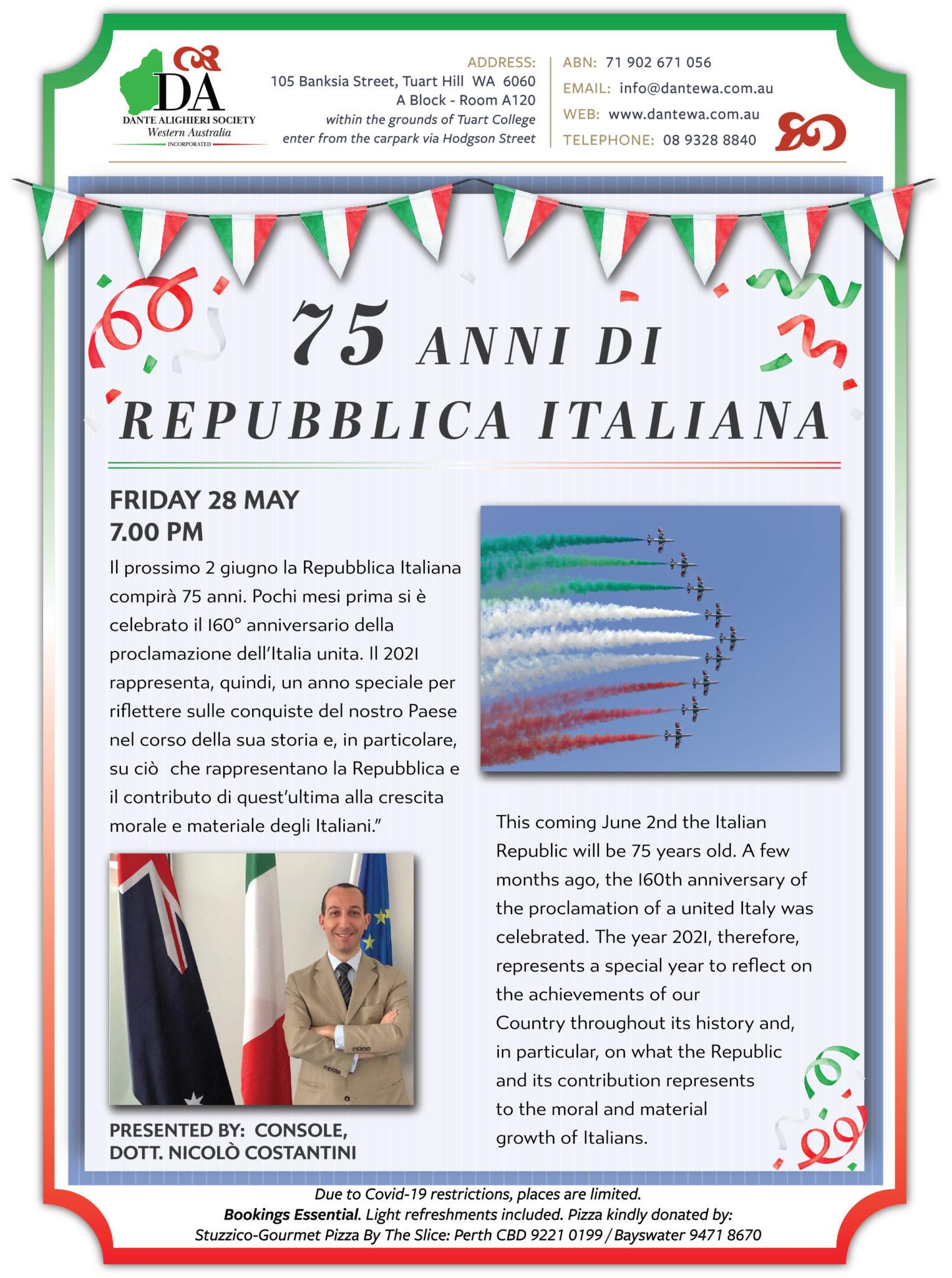 🎂 La Repubblica Italiana compie 75 anni!! 🥂🍾